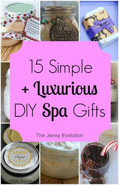 Why not pass on the love to your friends and family with these homemade DIY spa gifts! They're easy to make but chock full of love.