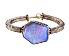Judy Geib - Sparkly Faceted Boulder Opal Bracelet in Designers Judy Geib One-of-a-Kind at TWISTonline