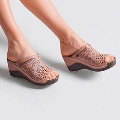 da71344903047b WEDGE HEEL FLIP FLOP SLIP-ON CASUAL SLIPPERS  Slippers  Sandals  Leatrend