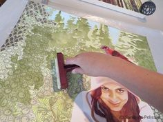 I usually like to mount paper on board before I start painting as this allows me to stretch it in the process of mounting it.  Lily Pads on One Mile Lake has been painted on paper that had been previously mounted on board. Click here to see pictures of that technique: Mounting watercolor paper on