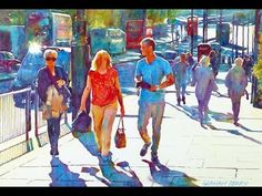 Painting a watercolour - London sunshine - YouTube