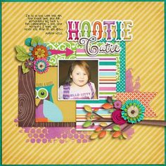 Hootie Cutie layout using Owl Your kit by Bella Gypsy Designs http://scraporchard.com/market/Owl-Yours-Digital-Scrapbook-Kit.html Fuss Free Mini Memories template by Fiddle Dee Dee Designs http://scraporchard.com/market/Fuss-Free-Mini-Memories-Digital-Scrapbook-Template.html