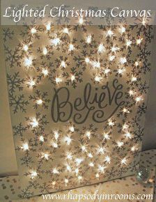 how to make a lighted christmas canvas, christmas decorations, crafts, fireplaces mantels, seasonal holiday decor (How To Make Christmas Crackers) Christmas Canvas, Winter Christmas, All Things Christmas, Christmas Lights, Christmas Holidays, Christmas Decorations, Rustic Christmas, Christmas Pictures, Simple Christmas