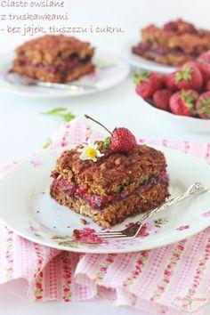 Ciasto owsiane z owocami (bez jajek, cukru i tłuszczu) / Oatmeal Fruit Cake (no eggs, no fat, no sugar)