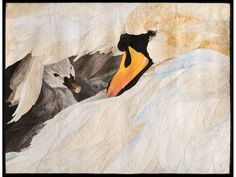 """Beneath My Wing"" by David Taylor (Colorado). Winner, The Fairfield Master Award for Contemporary Artistry, $5,000. 2014 Houston International Quilt Festival."
