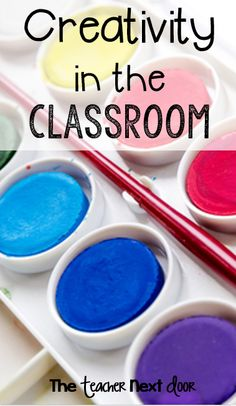 Lots of ideas to add creativity to the classroom by The Teacher Next Door on Minds in Bloom. Free set of 32 creativity task cards Creative Teaching, Teaching Tips, Teaching Reading, Teaching Math, Fun Learning, Teacher Blogs, Teacher Humor, Teacher Stuff