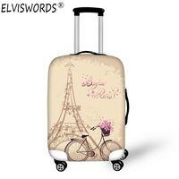 ELVISWORDS Eiffel Tower Waterproof Elastic Luggage Cover Trolley Suitcase Student Kid Protect Dust Bag Case Travel Accessories