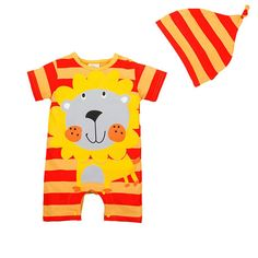 Bebone Baby Infat Toddler Cotton Animal Cartoon Romper Jumpsuit with Hat 912M Orange Lion >>> Details can be found by clicking on the image. (This is an affiliate link) #StylishBabyClothes Toddler Jumpsuit, Baby Jumpsuit, Baby Boy Romper, Summer Jumpsuit, Baby Outfits Newborn, Toddler Outfits, Baby Boy Outfits, Kids Outfits, Newborn Boys