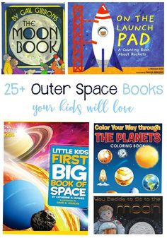 25+ Outer Space Books Your Kids Will Love To Read during your Solar System Unit Study! Perfect for a home collection or classroom library! via /lifeovercs/