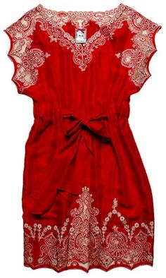 Yoana Baraschi+tunic + scarlet red embroidery=I'm in love.