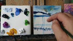 Palette knife Mini tutorial - Mountain Lake Reflections - part one