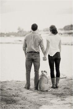 Engagement Photos with Dog Dillon Photo | Palm Beach Wedding Photography