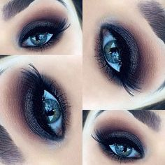 All Mac; soft brown, texture, folie, carbon, vex; loose pigment in deep blue green; pressed pigment in black grape; maybelline gel liner& red cherry lashes #43