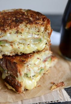 Minus the dijon and horseradish... - Crispy Zucchini Grilled Cheese with Dijon Horseradish Aioli