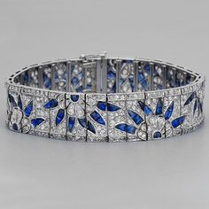 Art Deco Jewelry Fay Cullen - November 02 2019 at Art Deco Schmuck, Bijoux Art Deco, Art Deco Jewelry, Schmuck Design, Fine Jewelry, Antique Jewelry, Vintage Jewelry, Bleu Violet, Silver Jewellery Online