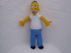 Needle felted Homer Simpson $ 45