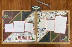 Scrapbook Layout Sketches, Scrapbook Templates, Scrapbook Designs, Scrapbooking Layouts, Christmas Scrapbook Layouts, Scrapbook Paper Crafts, Travel Scrapbook Pages, Scrapbook Organization, 6 Photos