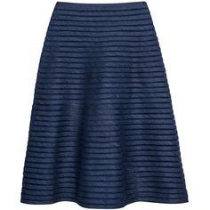 Cynthia Rowley Denim Mesh Midi Skirt ($325) ❤ liked on Polyvore