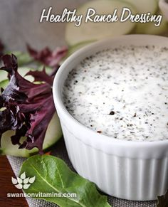 Switch out the store-bought ranch dressing for a much healthier option!
