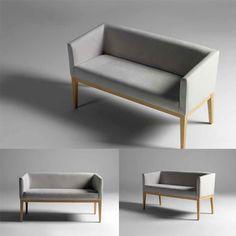 Dijon Sofa - 2 Seater, a designer box style contemporary design contract sofa.