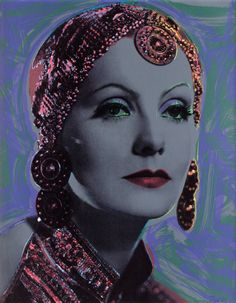 Greta Garbo by Rupert Smith in collaboration with Andy Warhol. 1989