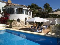 Gorgeous+villa+with+XL+pool,+4+terraces+and+seaview+++Holiday Rental in Javea from @HomeAwayUK #holiday #rental #travel #homeaway