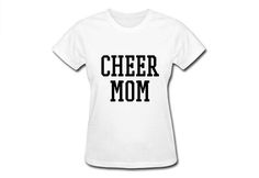 Cheer Mom Shirts, Proud Cheer Mom Shirt, Cheer Mom T-shirts, Pompom Cheer Shirt, Cheer Shirt, Cheerleading Mom T-Shirt, Gift for Cheer Mom  100% preshrunk cotton Feminine 1/2 rib mid scoop neck Sideseamed with slightly tapered Missy fit Seamless rib at neck Taped shoulder-to-shoulder Cap sleeves for comfort Double-needle stitched sleeves and bottom hem  We accept major credit cards, paypal and do not charge tax.  Yes, we ship Worldwide! Because everyone deserves the opportunity to own su...