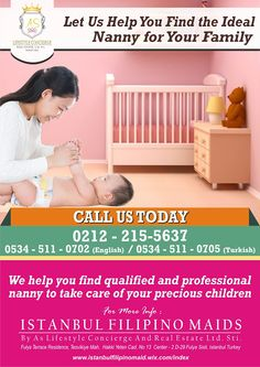 Istanbul Filipino Maids by AS Lifestyle Concierge and Real Estate Ltd. Sti.: Looking for qualified and professional nanny to ta...