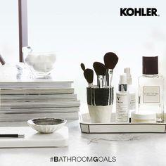 kohler_indiaA stylish make-up nook in the bathroom is high on our #BathroomBucketList! What's on yours? . . . #kohler #sink #water #bath #instadaily #nofilter #nofilterneeded #photooftheday #kohlerindia #boldandbeautiful #bathroom #decor #homedecor #design #art #bathtub #accessories #saturday #design #art #marcjacobs #perfume #makeupbrushes #makeup #bathroomgoals Kohler Sink, Bathtub Accessories, Bathroom Goals, Bathroom Essentials, Nook, Design Art, Make Up, Perfume, Posts