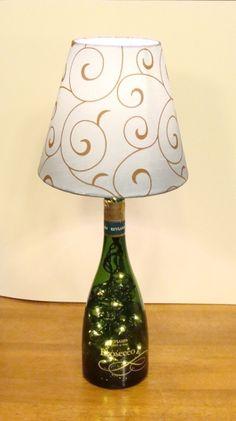 Wine Bottle Lamp With Night Light Dark Green by farmerallan