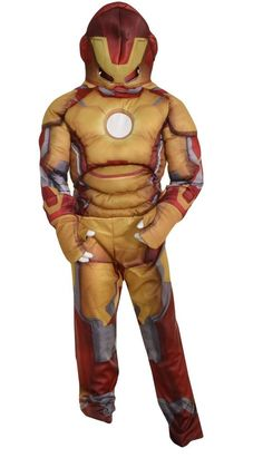 Marvel by Disguise Boys Iron Man 3 Costume 3T 4T Party Superhero Gold Red NEW #Disguise #CompleteCostume