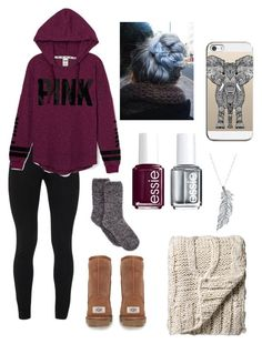 A fashion look from November 2015 featuring oversized shirts, long leggings and fuzzy socks. Fall Outfits For School, Lazy Day Outfits, Cute Teen Outfits, Basic Outfits, Casual Winter Outfits, Teenager Outfits, Outfits For Teens, Trendy Outfits, Girl Outfits