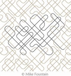 Digital Quilting Design U Turns 2 by Mike Fountain Longarm Quilting, Free Motion Quilting, U Turn, Quilt Stitching, Digital Pattern, Quilting Designs, Basket Weaving, Stuff To Do, Quilt Patterns