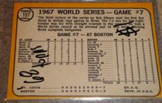I will sell my 1968 World Series-Game #7 topps #157 for $3.00
