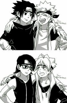 Imagine these three clans coming together. Because she is an Uchiha, and he has Uzumaki and Huyuga blood in him.
