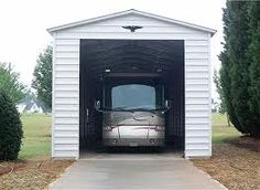 1000 images about rv barn and hay loft on pinterest rv for Rv garage door sizes