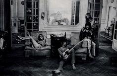 Anita Pallenberg, Keith Richards, Gram Parsons, & Gretchen Parsons