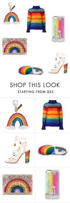 """""""Wear the rainbow"""" by audjvoss ❤ liked on Polyvore featuring Edie Parker, Kansai Yamamoto, Salvatore Ferragamo, Vans, Anya Hindmarch and Marc Jacobs"""