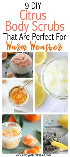 I am so excited for warm weather, and this article is perfect! I can't wait to use these all-natural, DIY body scrubs for spring and summer. I love citrus smelling things! via @simplynaturalma
