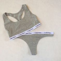 ec6554d9fc Calvin Klein Grey Bralette   Grey Thong Set  Calvin  MyCalvins  CalvinKlein   10SeaGirl  Klein  Set  Bra  bralette  thong  bikini  boyshort