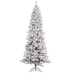 33 Best Flocked & Frosted Trees images   Christmas tree ...