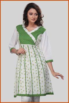 Off White, Light Cream and Green Cotton Readymade Kurta    Itemcode: TNK34    Price: US $25.99    Click here to shop: http://www.utsavfashion.com/store/item.aspx?icode=tnk34