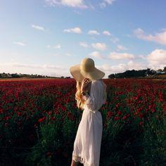 White dress + straw hat | VSCO | Mary Claire Roman