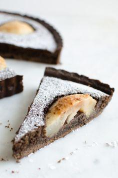 Chocolate Frangipane Pear Tart | veryEATalian