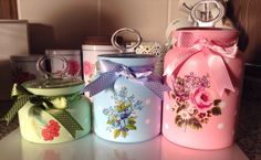 My decoupage jars