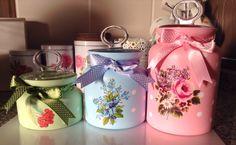 My decoupage jars