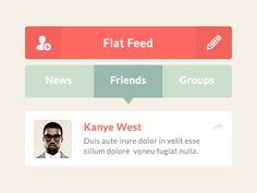 Flat Feed UI by Daniel Klopper