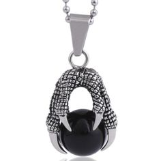 Check out our Dragon Egg Necklace Silver Claw Pendant
