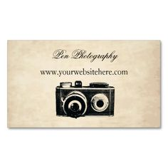 Vintage Camera Business Card. I love this design! It is available for customization or ready to buy as is. All you need is to add your business info to this template then place the order. It will ship within 24 hours. Just click the image to make your own!