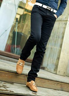 Black Skinny Denim Pants